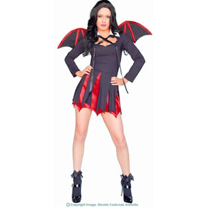 Goth Bat Girl Dark Angel Vampiress Halloween Women's Costume