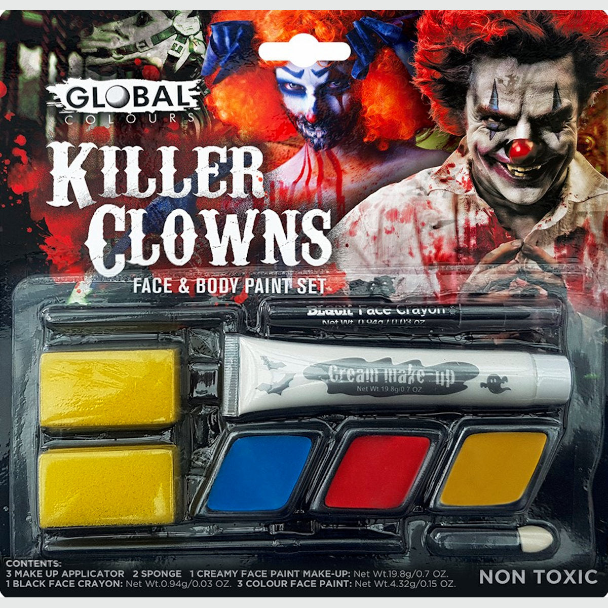 Killer Clown Make Up Kit Global Horror Special FX Halloween