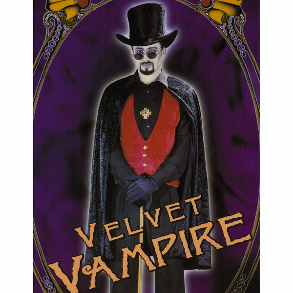 Elegant Count Dracula Vampire Men's Halloween fancy Dress Costume Cape & Hat