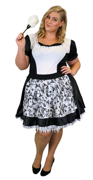 French Maid Plus Size Women's Costume Fancy Dress Party