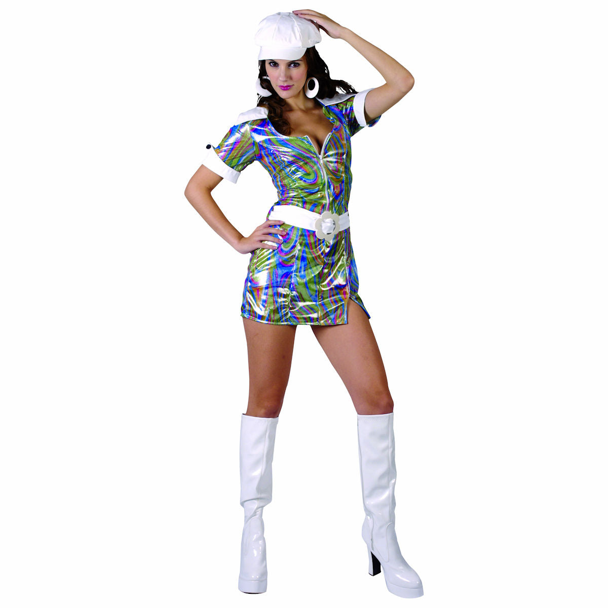 1960's GoGo Dancer Women's Costume with Hat and Belt