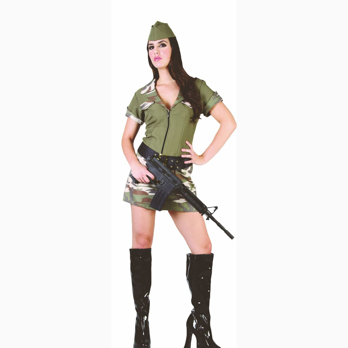 GI Jane Army Soldier Sexy Women's Fancy Dress Costume