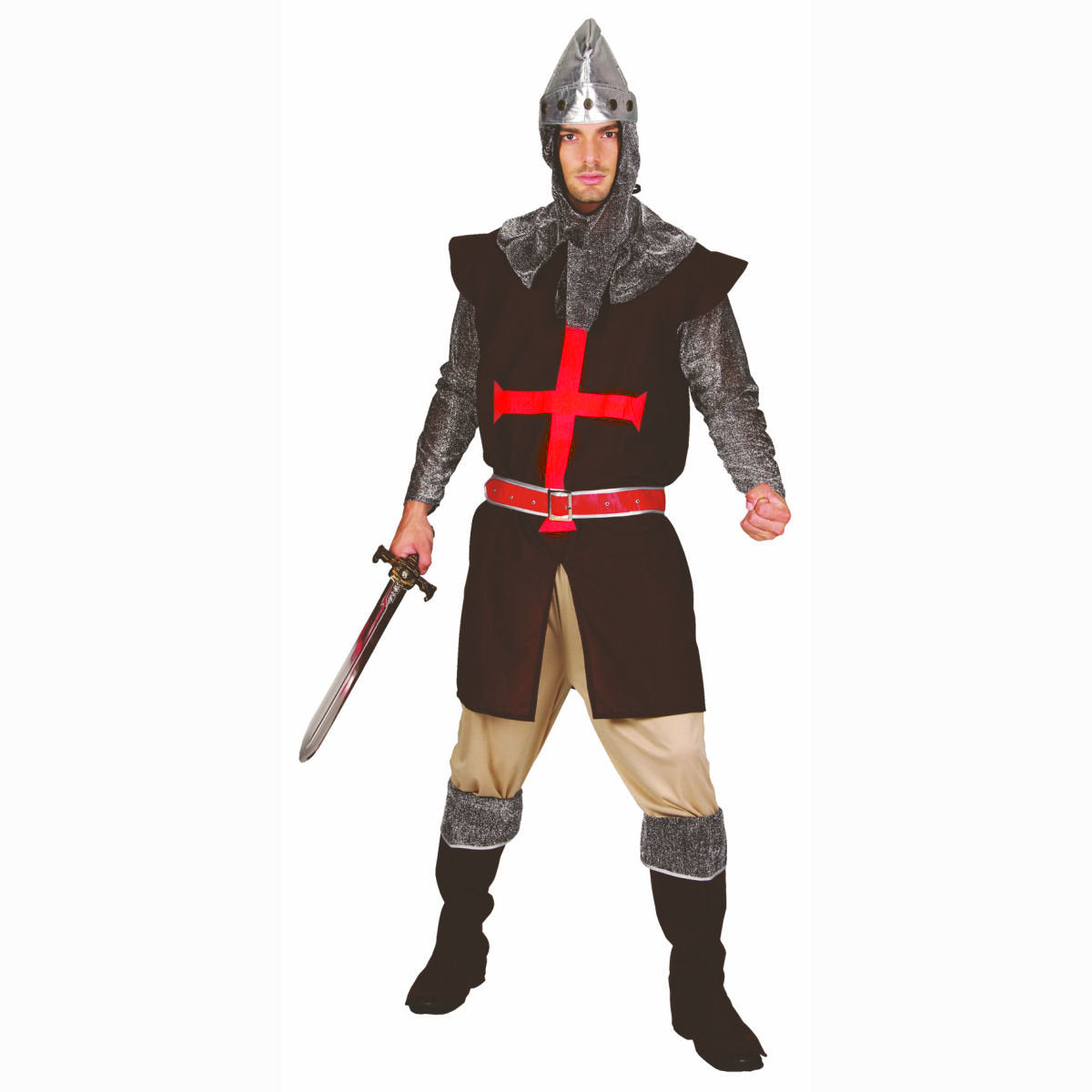 Medieval Knight Crusader Men's Fancy Dress Costume