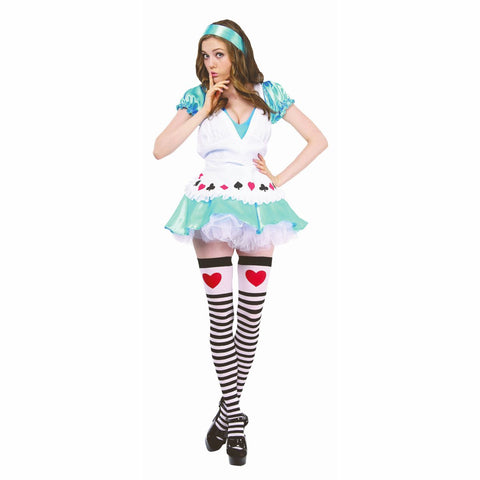 Sweet Alice In Wonderland Farytale Women's Fancy Dress Costume