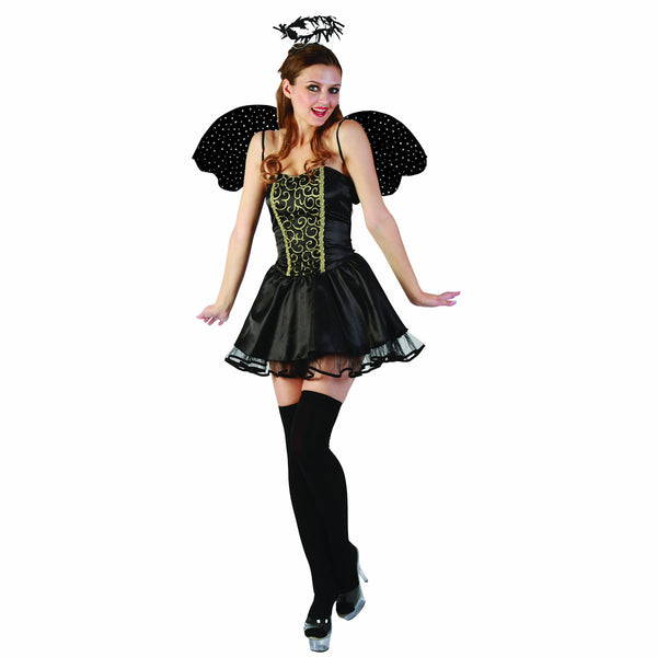 Fallen Angel Women's Fancy Dress Costume with Halo and Wings Beautiful