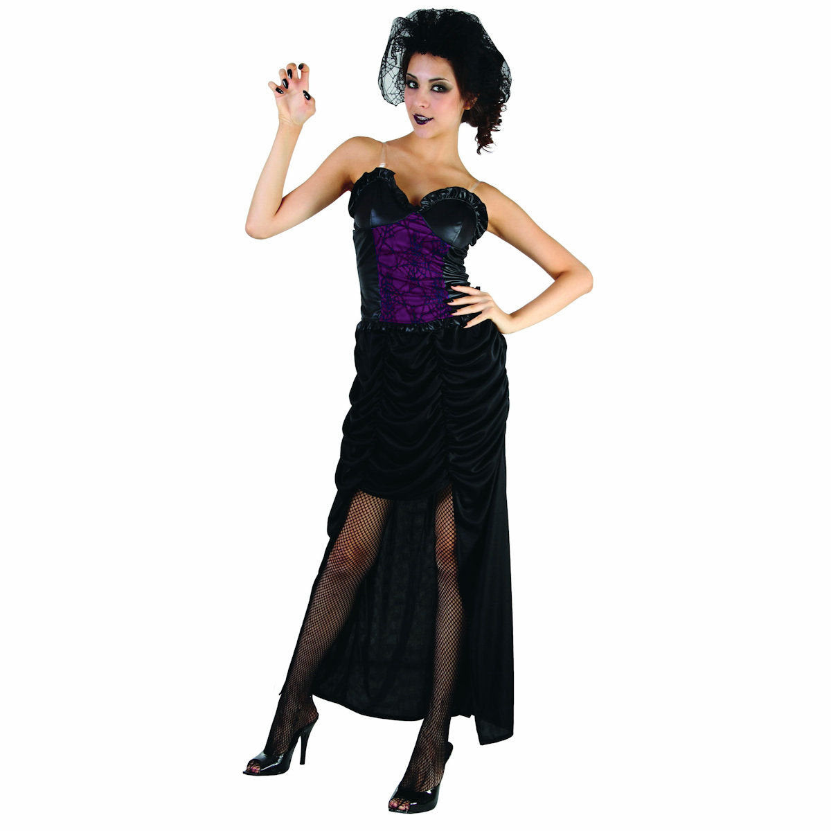 Black Widow Gorgeous Women's Day of the Dead Halloween  Fancy Dress Costume