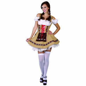 Alpine Girl Oktoberfest Beer Wench Women's Fancy Dress Costume