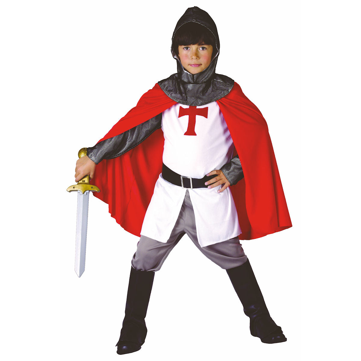 Crusader Knight Medieval Boy's Fancy Dress Costume Child