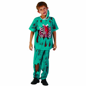 Junior Zombie Surgeon Doctor Boy's Halloween Party Costume