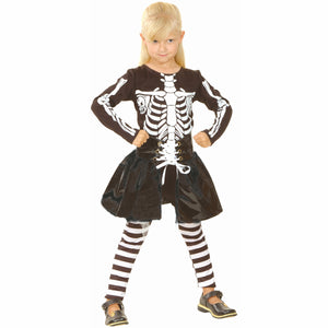 Little Skeleton Cute Girl's Fancy Dress Halloween Costume