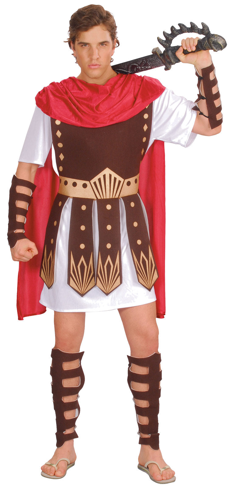 Roman Gladiator Warrior Men's Fancy Dress Costume