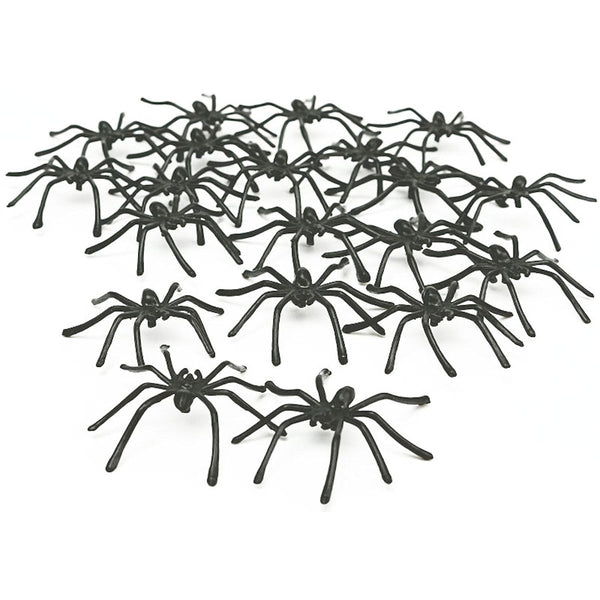 Spiders Infestation Pack of 50 Plastic Creepy Spiders Halloween Decoration