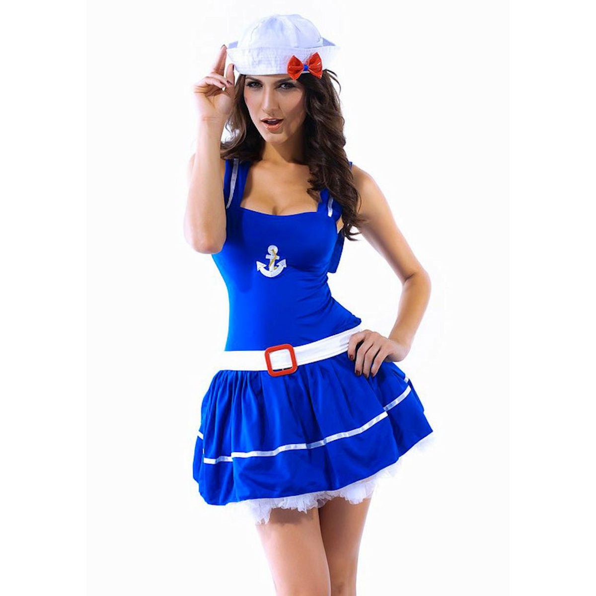 Sailor Blue Costume Women's fancy dress costume with Hat one size fits 8-12