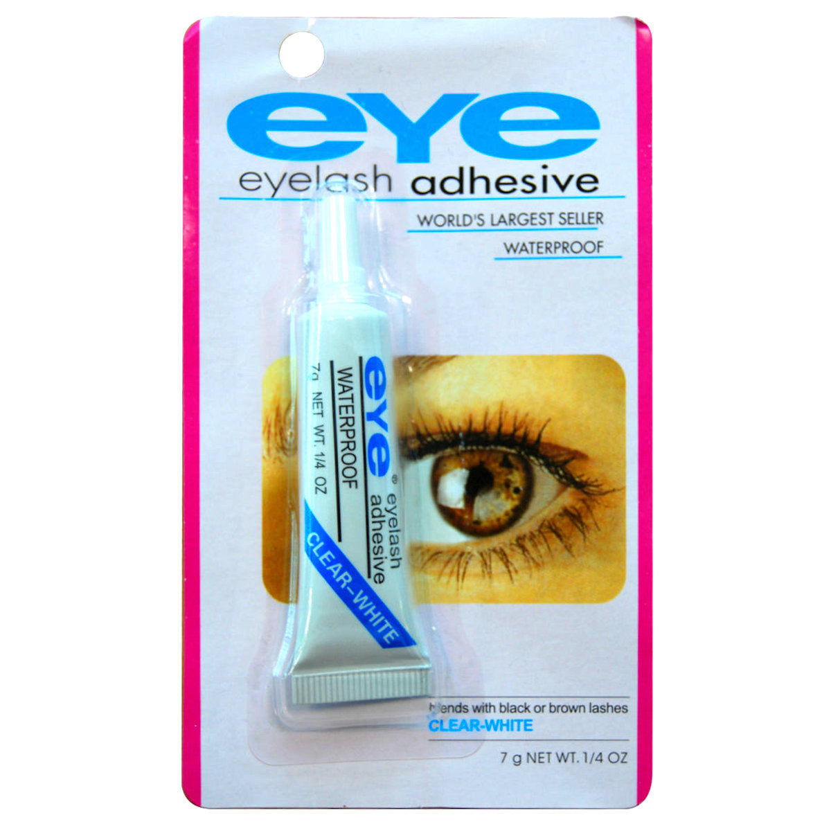 EYE Eyelash Adhesive 7gm Clear-White Waterproof glue Dries Clear