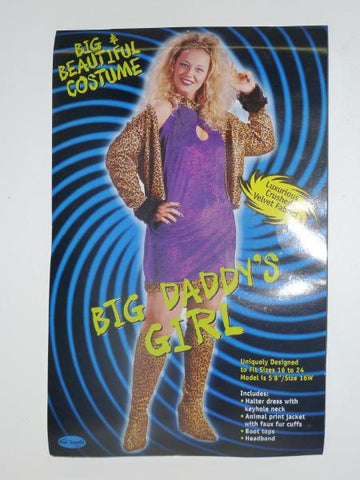 Plus Size Leopard Disco Diva Big Daddy's Girl Women's costume