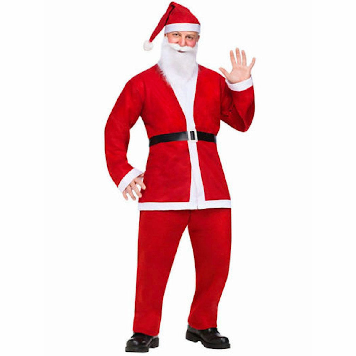 Pub Crawl Comical FUNNY SANTA men's fancy dress costume with beard and hat