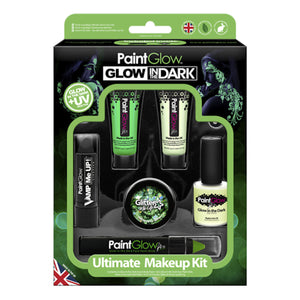 Fright Fest Glow in the Dark Ultimate Makeup Kit Halloween Make Up Paint Glow