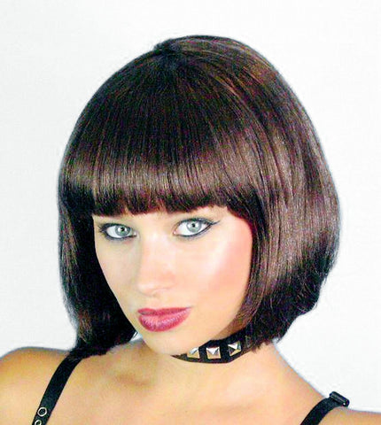 1920's Classic Bob Flapper Wig BROWN quality women's Miss Fisher costume WIG