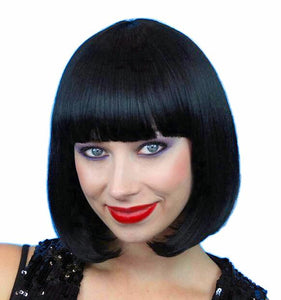 1920's Classic Bob Flapper Wig Black quality women's Miss Fisher costume WIG
