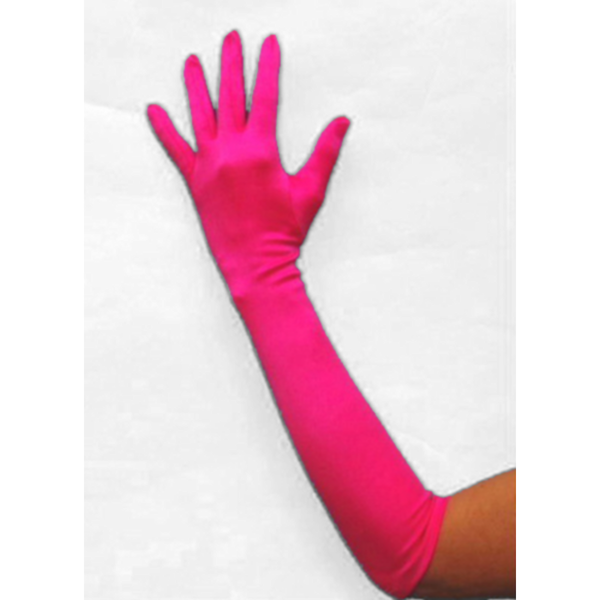 High Quality Stretch Satin Long Opera GLOVES Hot PINK Costume & Formal