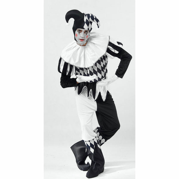 Harlequin Clown Joker Jester Men's Costume Complete Outfit