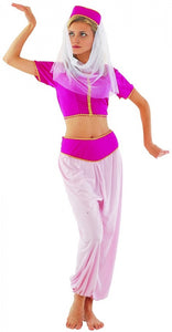 Jeannie Arabian Princess Women's Fancy Dress Complete Costume