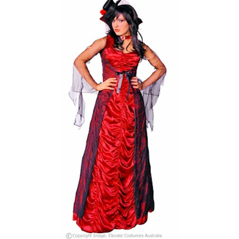 Countess of Darkness Gothic Vampire Women's Fancy Dress Costume