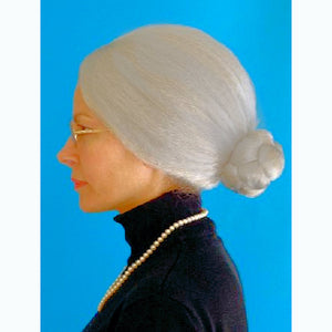 Granny Mrs Santa WIG Fancy Dress Costume