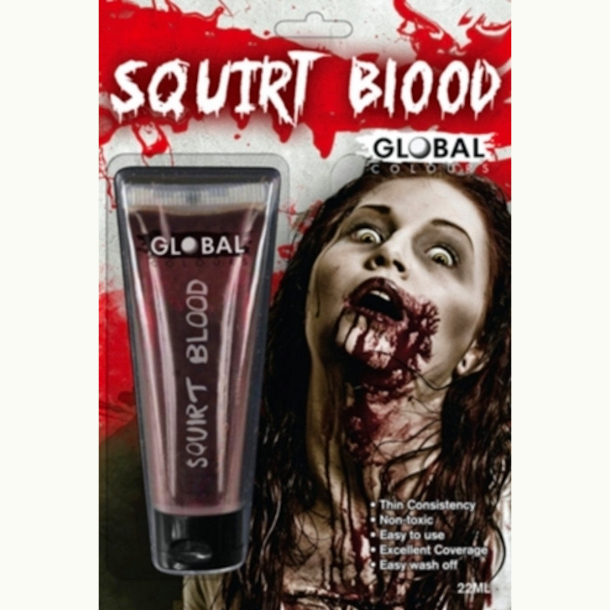 Squirt Stage Fake Blood 22ml Tube Halloween Special FX Make up Costume Accessory