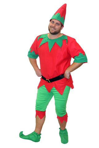 Christmas Party Fun Elf Men's Costume