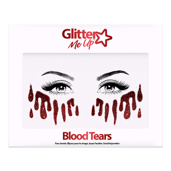 Glitter Me up Blood Tears Tattoo Stickers Halloween Make Up