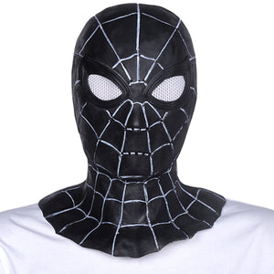 Black Spider Man Latex Mask High Quality and Detail