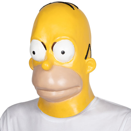 Homer Simpson Latex Full Head Mask Fancy Dress Costume Accessory