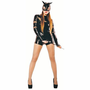 Sexy Catwoman stretch Fancy Dress Costume with Mask