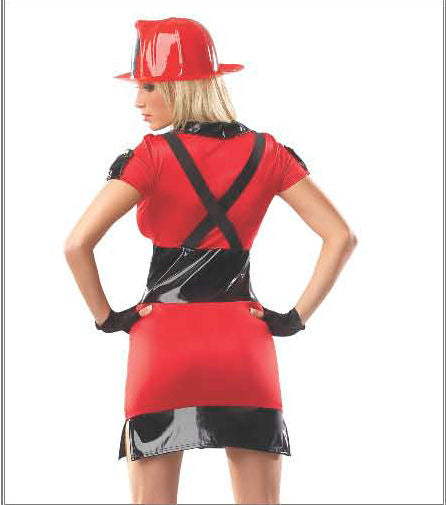 Sexy FIREFIGHTER Women's Fancy Dress Costume