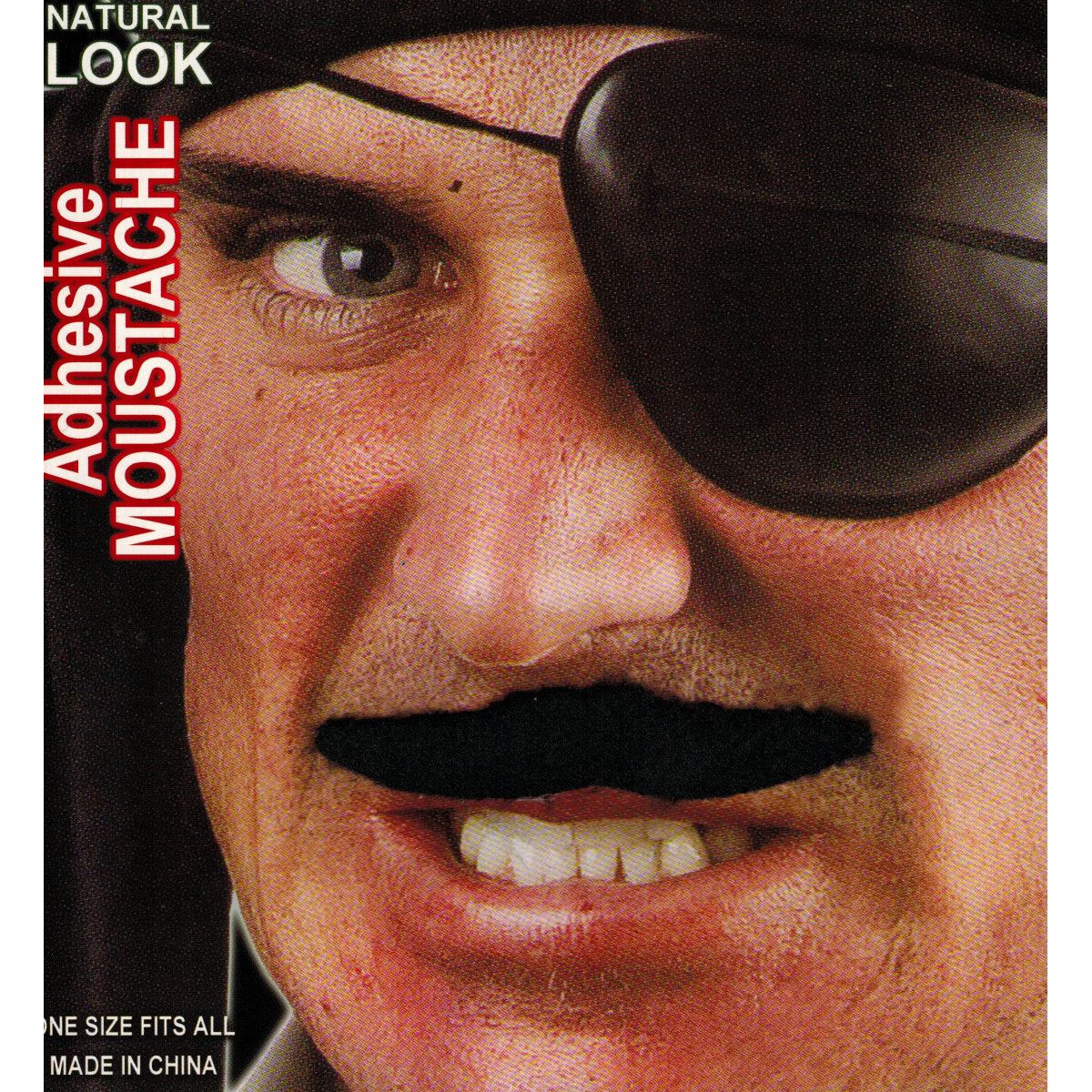 Men's Black Fake Pirate Moustache