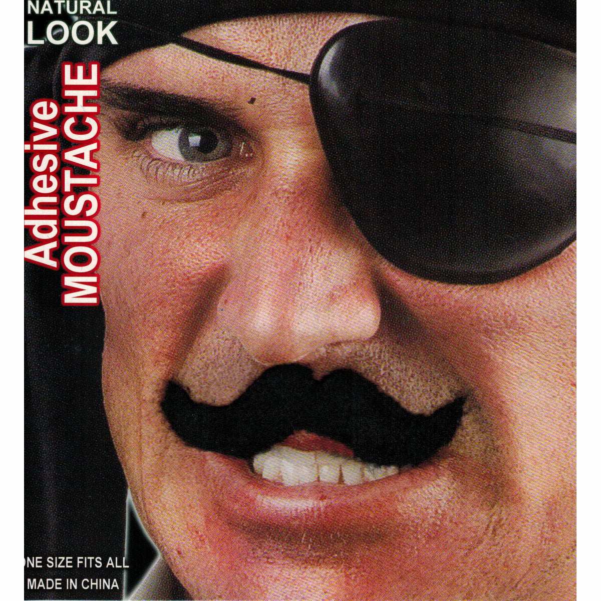 Men's Black Fake Handlebar Moustache
