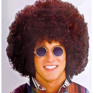 1970's Jumbo Afro Boogie Wonderland WIG BROWN Men's Fancy Dress costume