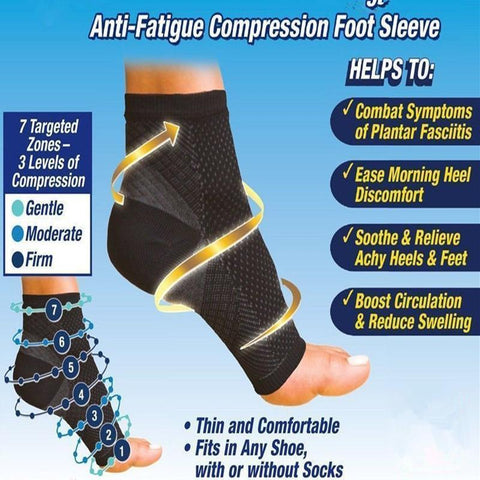 Anti-Fatigue 7-Zone Compression Sock Soothes and Relieves Aches, Boosts Circulation And Reduces Swelling & Discomfort