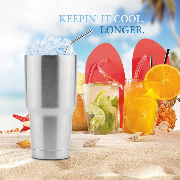 "NASA Tech 30 Oz. Double Wall Stainless Steel Vacuum ""Smart Tumbler"" Keeps Your Drinks HOT or COLD For 24+ Hours!"
