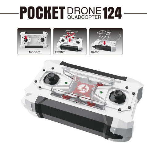 AK124 Micro Pocket Drone Quadcopter