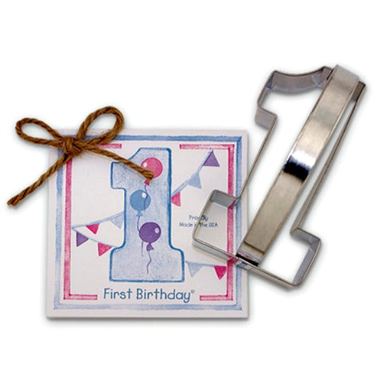 Baby's First Birthday Cookie Cutter by Ann Clark MADE IN USA!