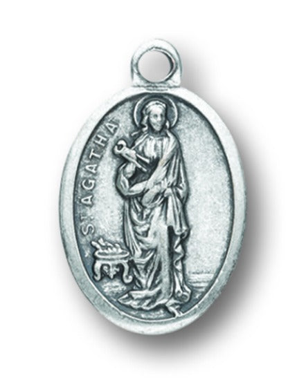 St. Agatha Medal Charms - Pack of Ten - Patron of Those with Breast Cancer