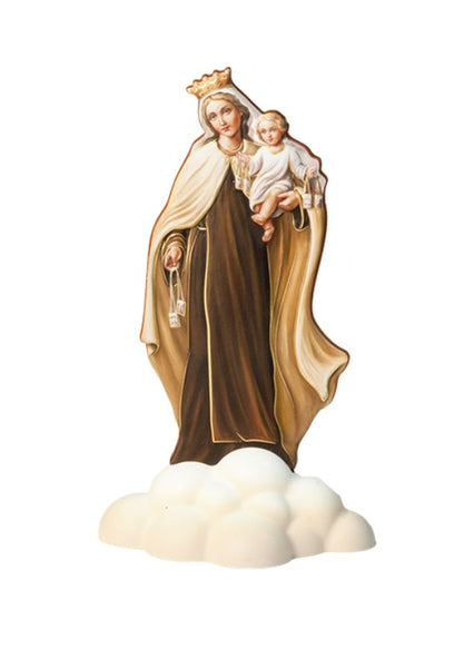 "Our Lady of Mount Carmel Statuette 5.5"" Made in Italy Fars 1098-ENG-M250"