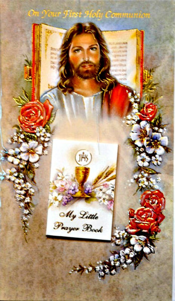First Communion Greeting Card with Mini Prayer Book 11-1037