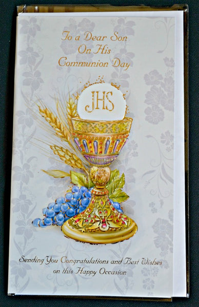 Son First Communion Greeting Card Religious Art 11-3124S