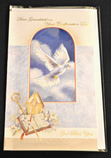 Grandchild Confirmation Greeting Card - Printed in Italy  Religious Art 11-3206