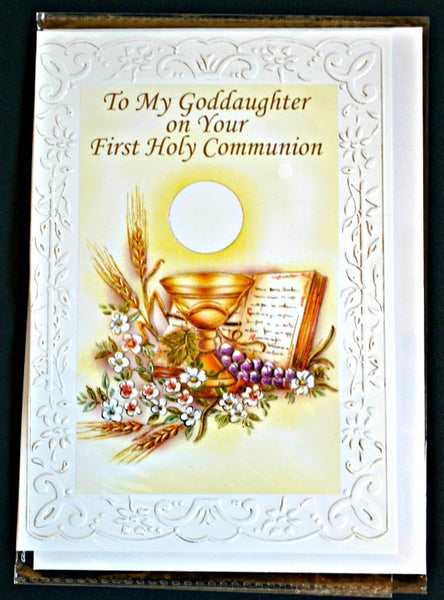 Goddaughter First Communion Greeting Card 11-3228