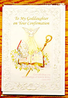 To My Godson or Goddaughter on your Confirmation Greeting Card