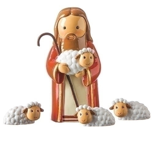 "Jesus the Good Shepherd 3"" Statue - Little Drops of Water Series"